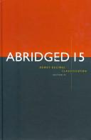 Abridged Dewey Decimal Classification and Relative Index (15)